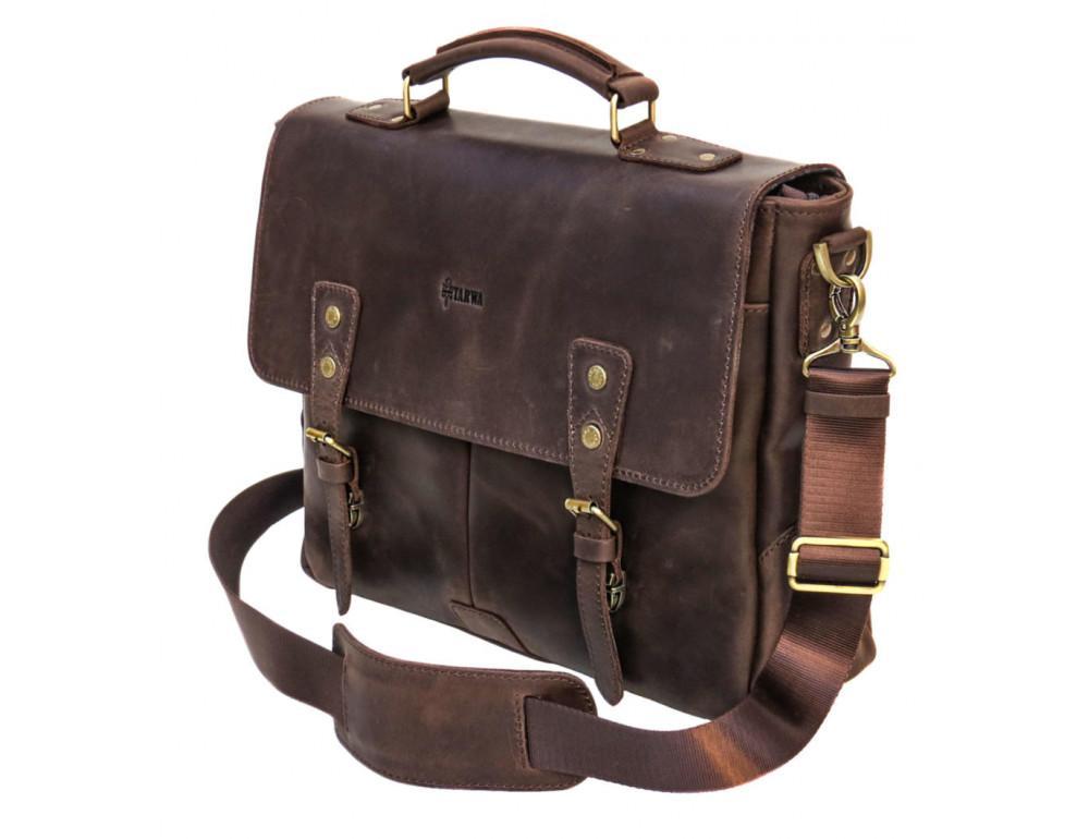 Коричневый мужской портфель TARWA RС-3960-4lx   - Фото № 3
