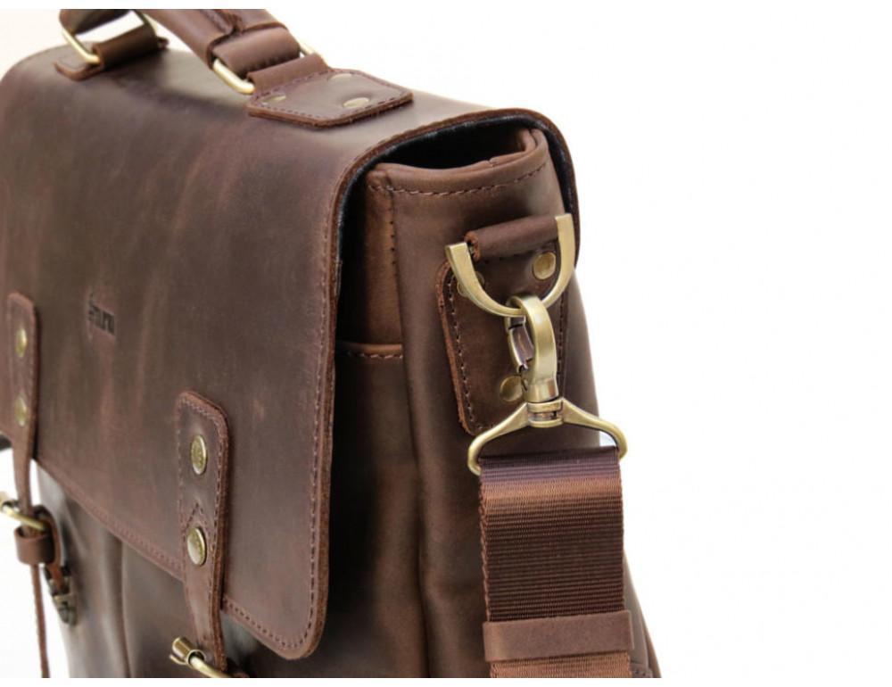 Коричневый мужской портфель TARWA RС-3960-4lx   - Фото № 5