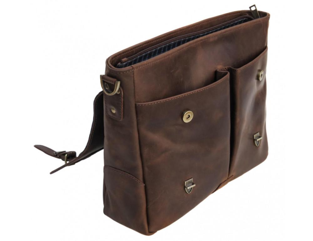 Коричневый мужской портфель TARWA RС-3960-4lx   - Фото № 6