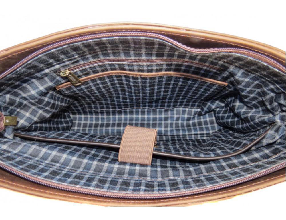 Коричневый мужской портфель TARWA RС-3960-4lx   - Фото № 9