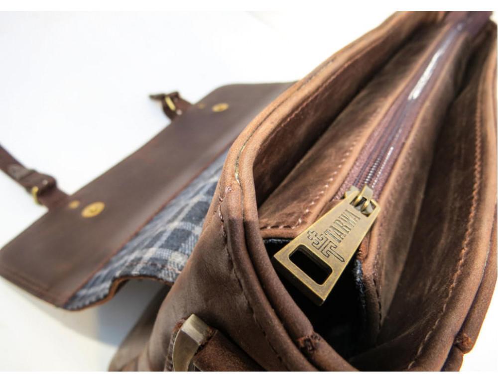 Коричневый мужской портфель TARWA RС-3960-4lx   - Фото № 10