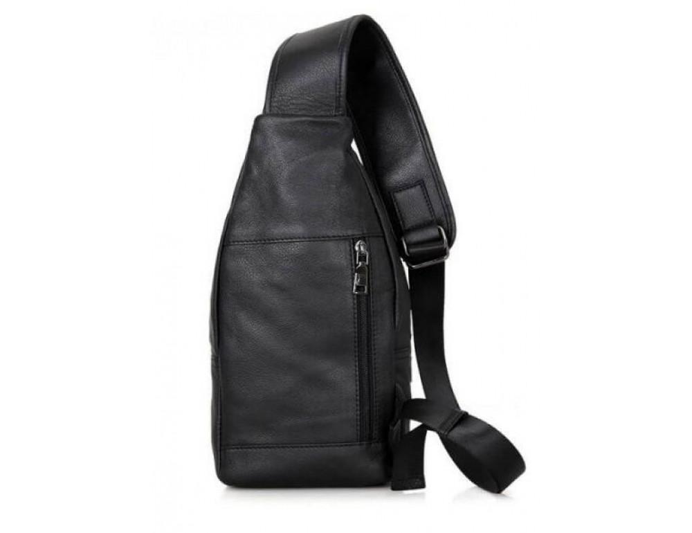 Чёрная мужская сумка-мессенджер из кожи TIDING BAG 4004A - Фото № 2