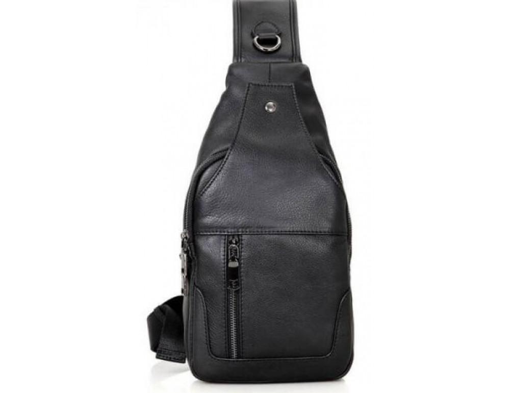 Чёрная мужская сумка-мессенджер из кожи TIDING BAG 4004A - Фото № 3