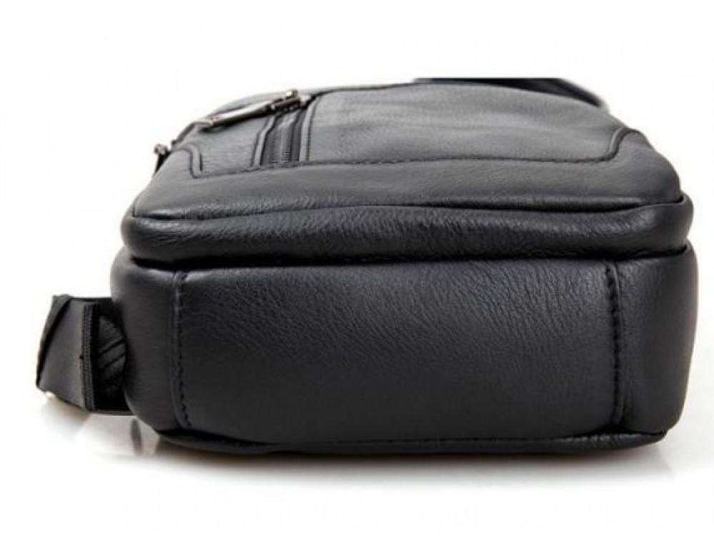 Чёрная мужская сумка-мессенджер из кожи TIDING BAG 4004A - Фото № 5