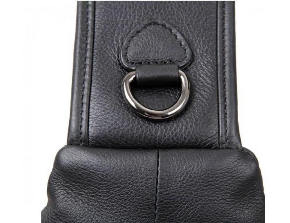 Чёрная мужская сумка-мессенджер из кожи TIDING BAG 4004A - Фото № 6