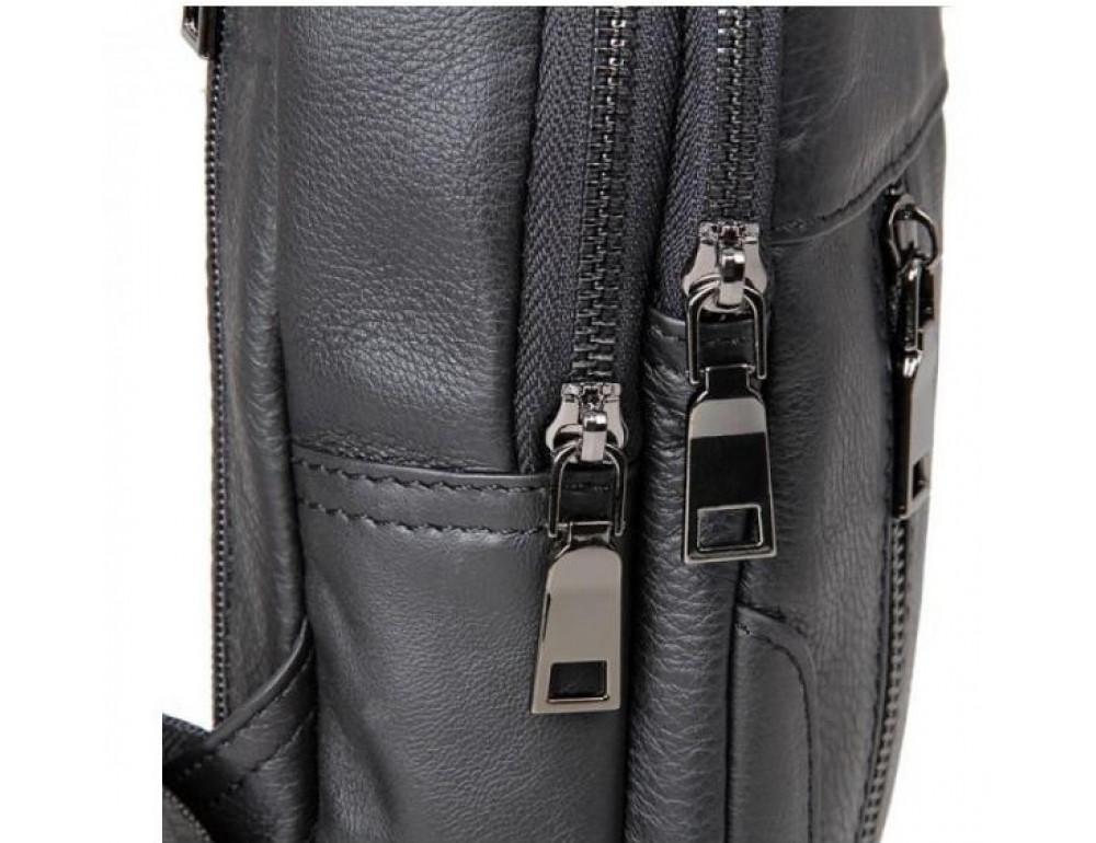 Чёрная мужская сумка-мессенджер из кожи TIDING BAG 4004A - Фото № 7