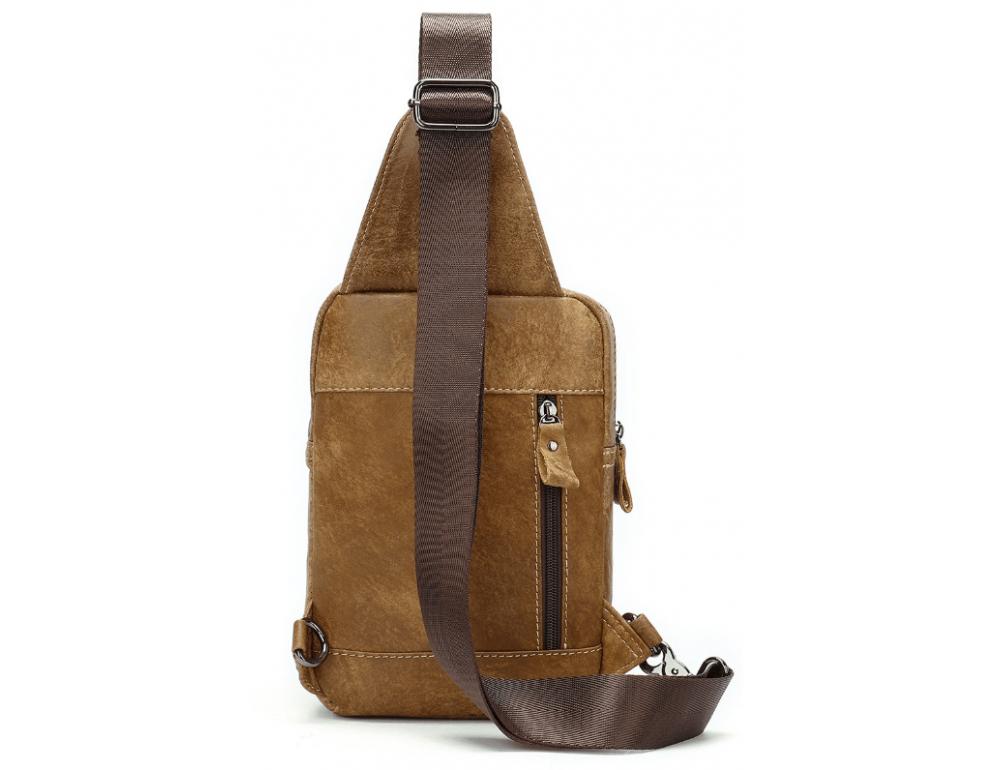 Светло-коричневая сумка через плечо Tiding Bag 4006С - Фото № 3