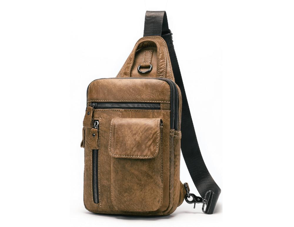 Светло-коричневая сумка через плечо Tiding Bag 4006С