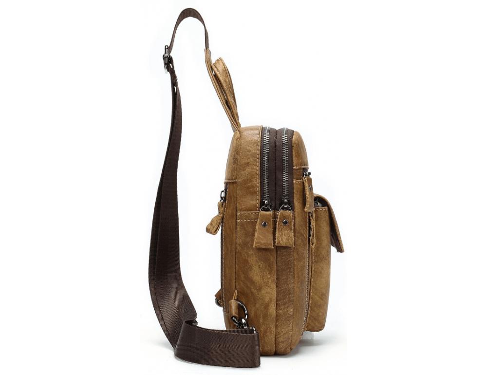 Светло-коричневая сумка через плечо Tiding Bag 4006С - Фото № 4