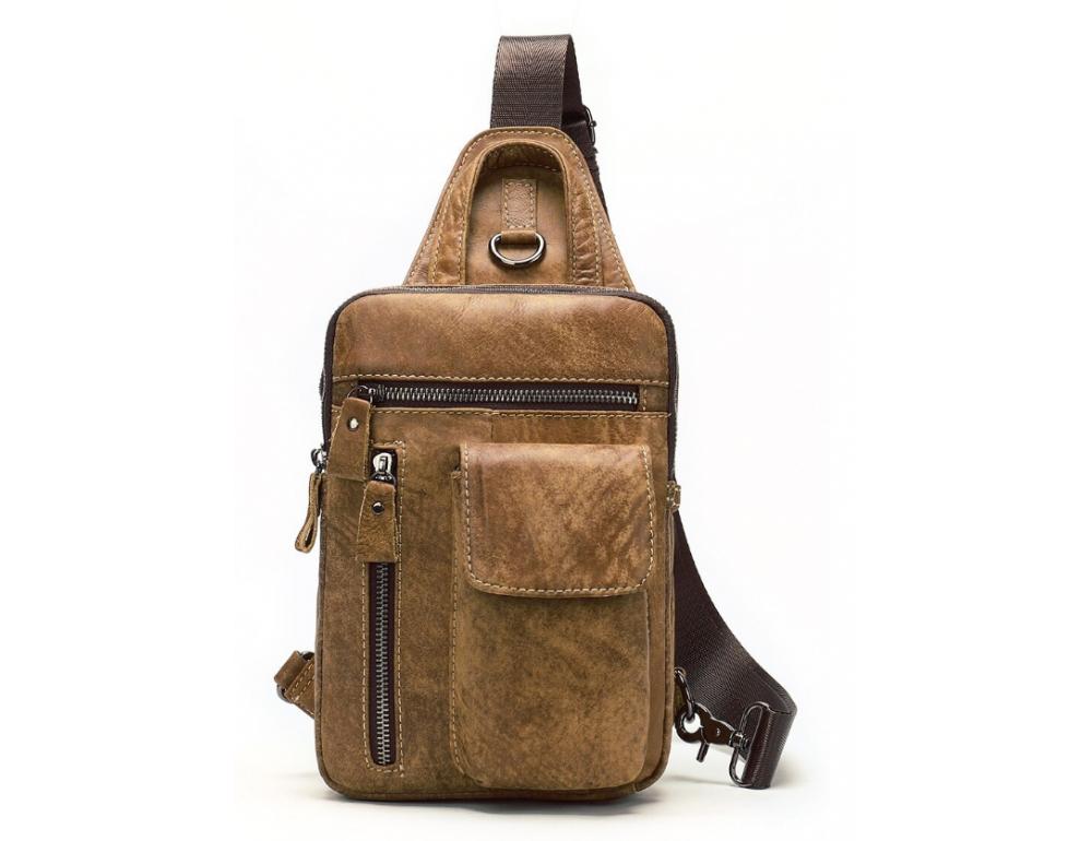 Светло-коричневая сумка через плечо Tiding Bag 4006С - Фото № 5
