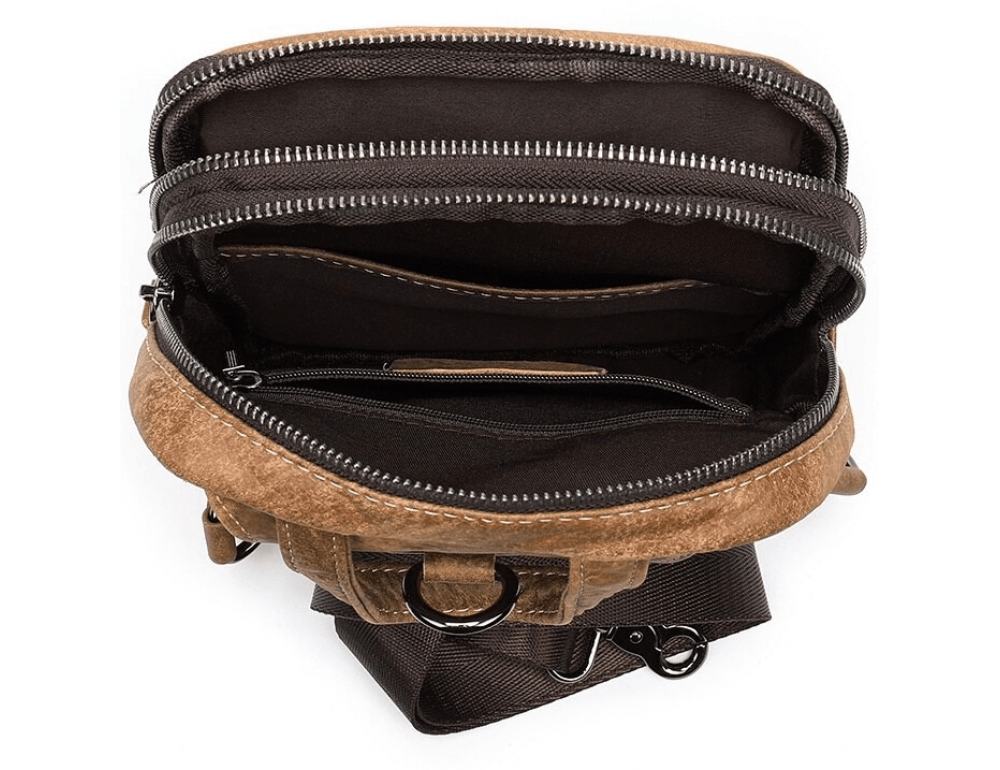 Светло-коричневая сумка через плечо Tiding Bag 4006С - Фото № 6