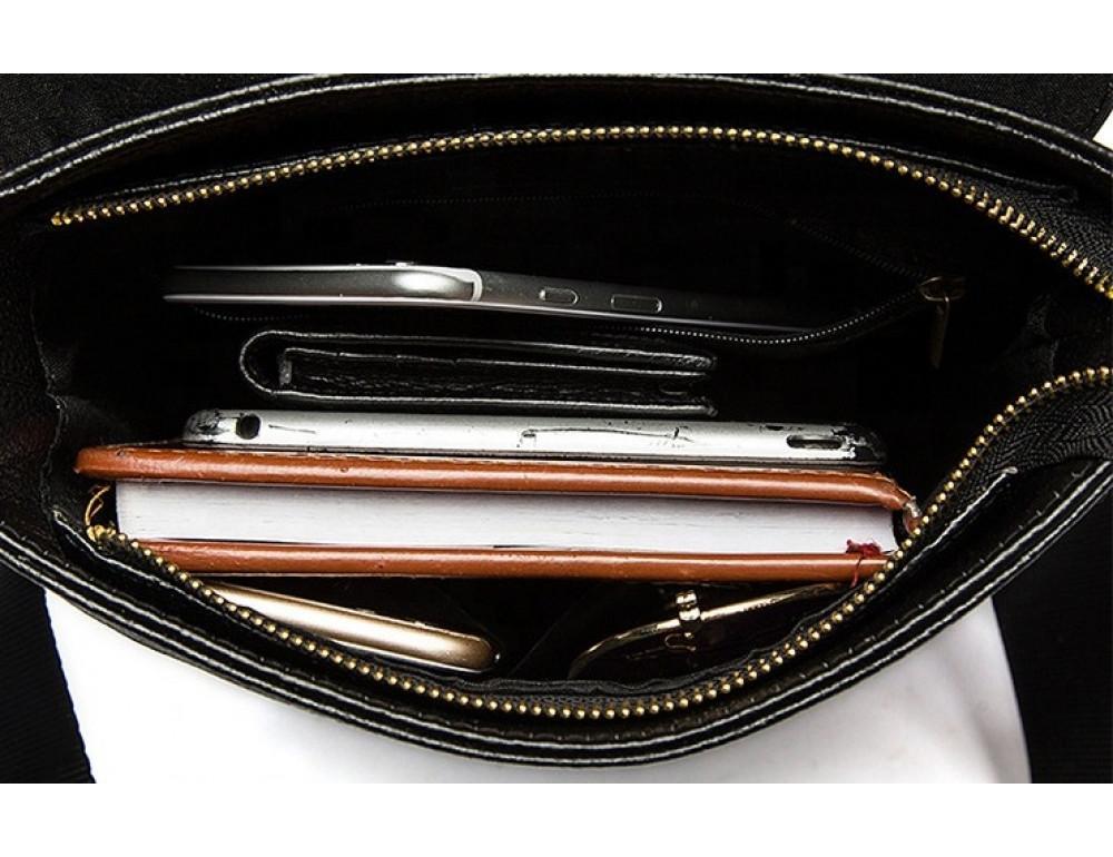 Чёрная сумка через плечо Tiding Bag 4010A - Фото № 2