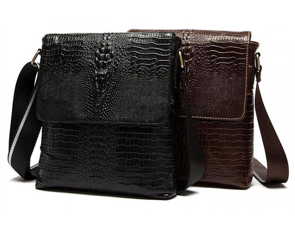 Чёрная сумка через плечо Tiding Bag 4010A - Фото № 3