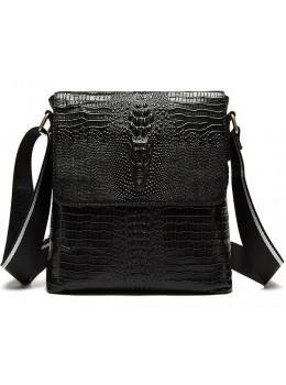 Чёрная сумка через плечо Tiding Bag 4010A