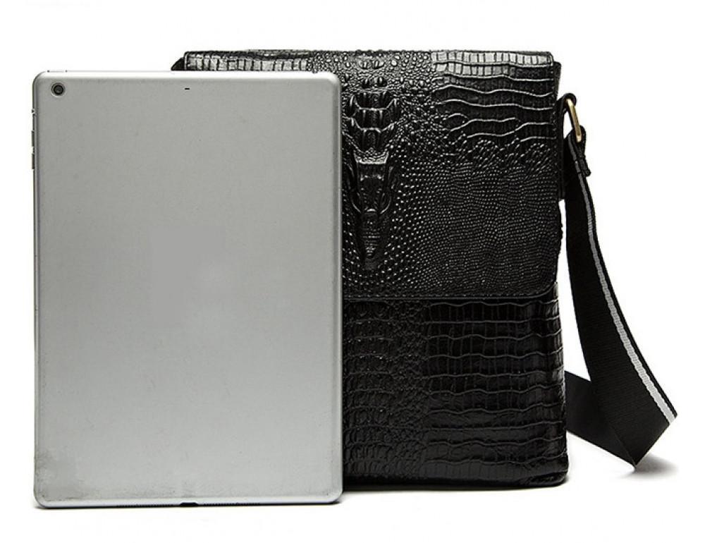 Чёрная сумка через плечо Tiding Bag 4010A - Фото № 6