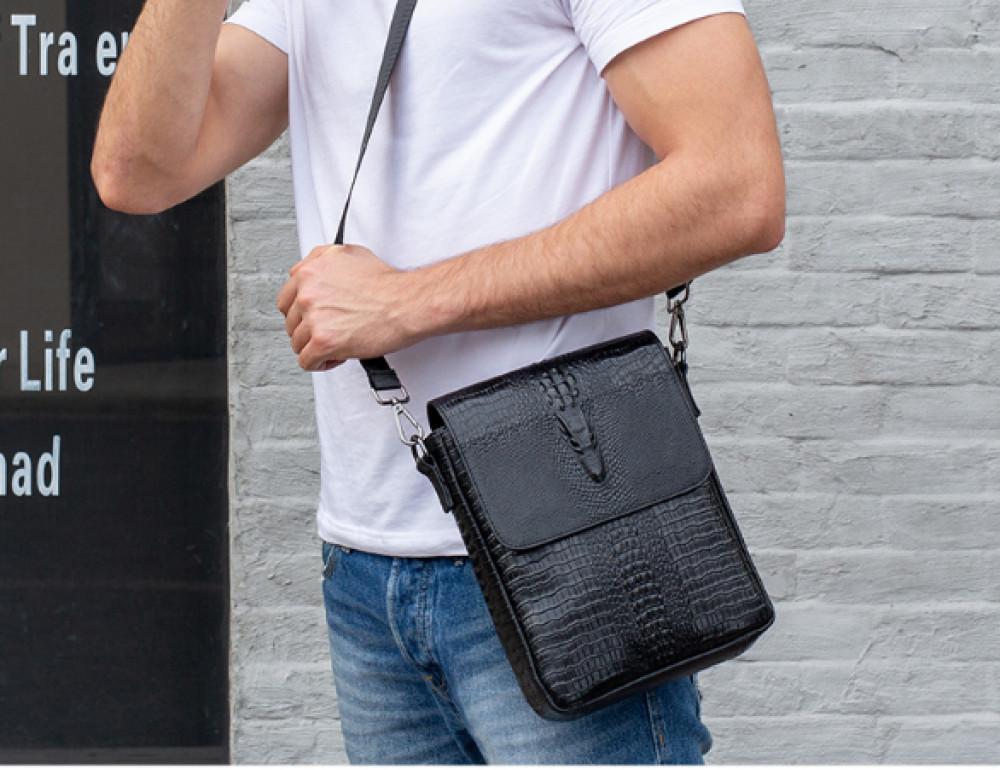 Чёрная сумка через плечо Tiding Bag 4010A - Фото № 7