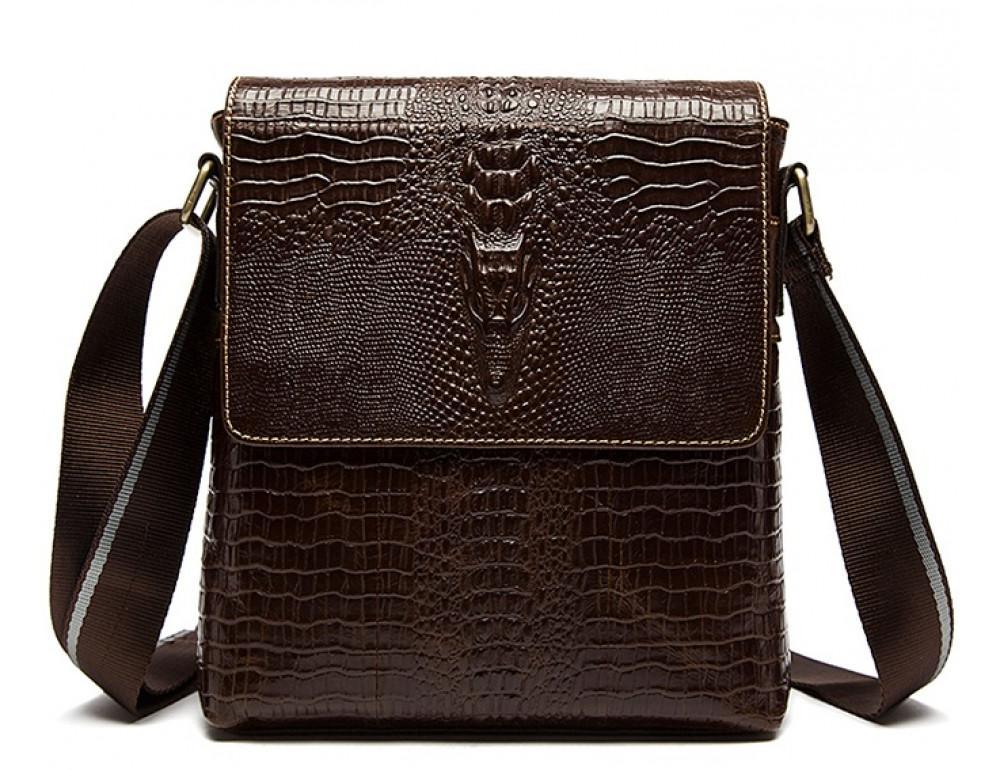 Коричневая сумка через плечо Tiding Bag 4010C - Фото № 1