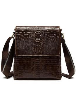 Коричневая сумка через плечо Tiding Bag 4010C