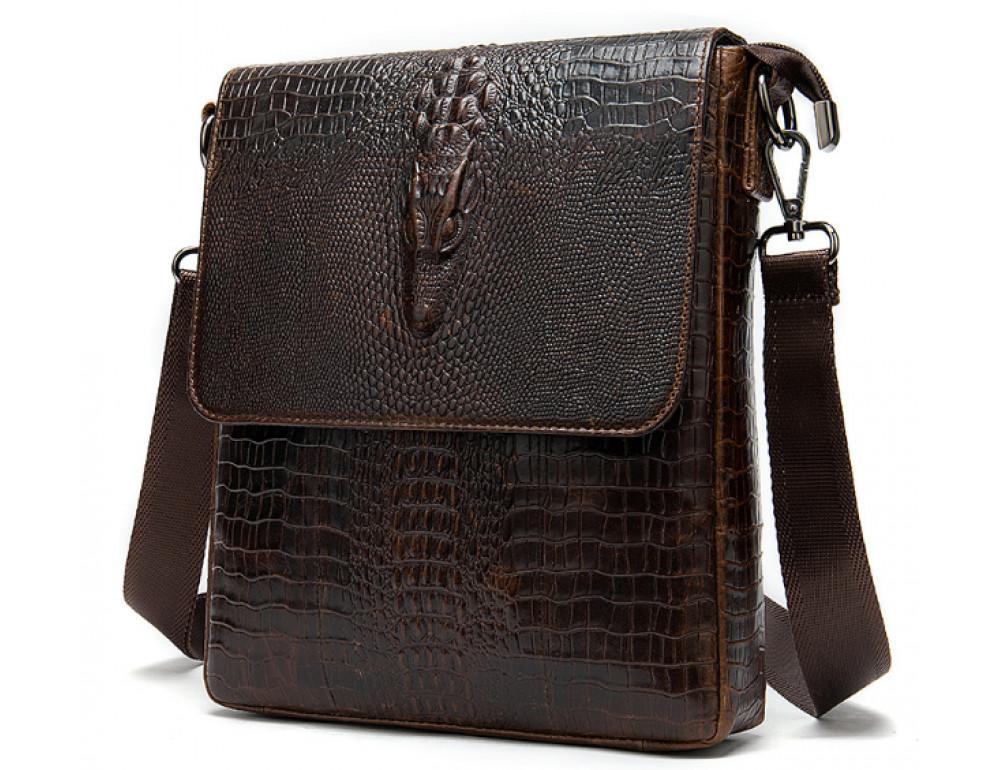Коричневая сумка через плечо Tiding Bag 4010C - Фото № 3