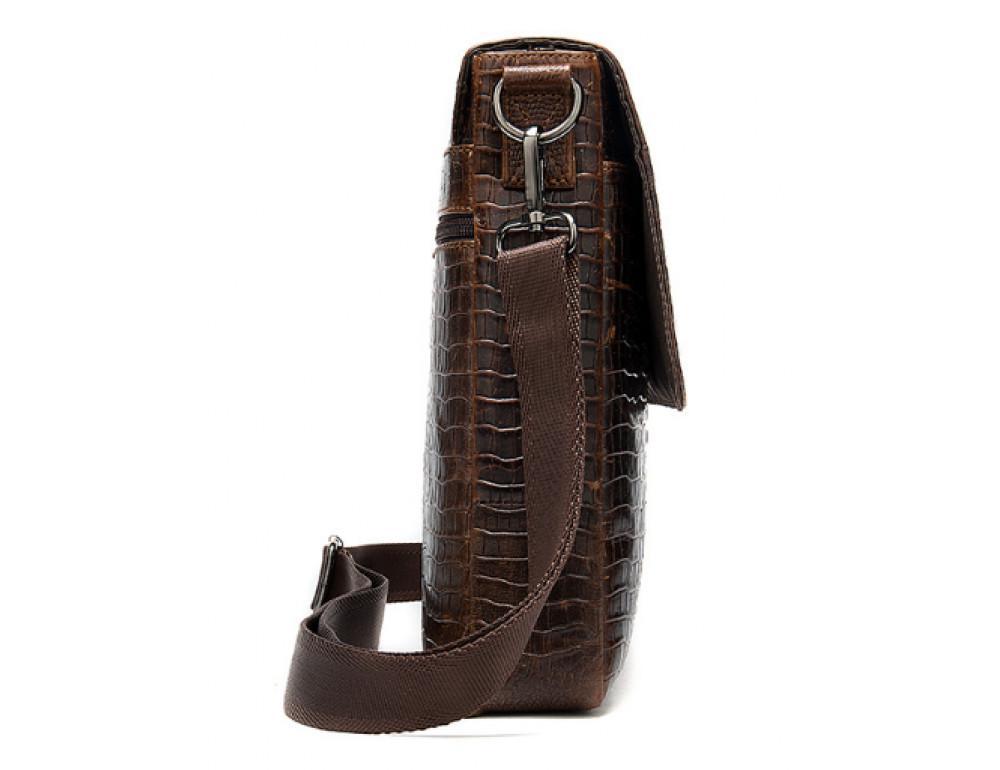 Коричневая сумка через плечо Tiding Bag 4010C - Фото № 4