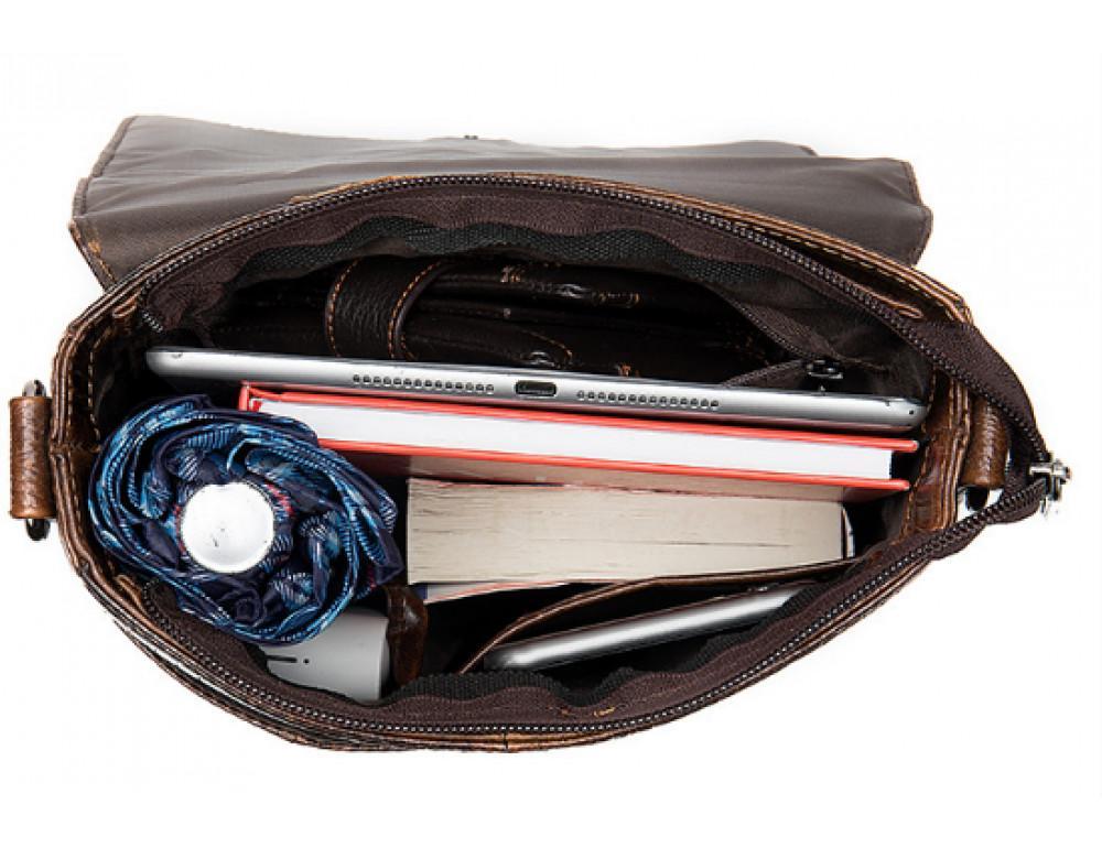 Коричневая сумка через плечо Tiding Bag 4010C - Фото № 6
