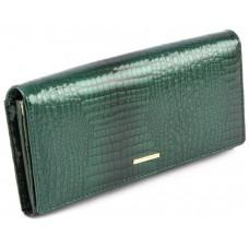 Зелёный лаковый портмоне женский Marco Coverna 403-1010-7