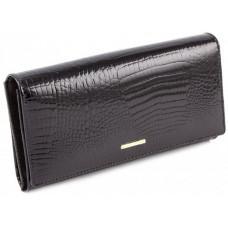 Чёрный кожаный кошелёк на магните Marco Coverna 403-2480-1