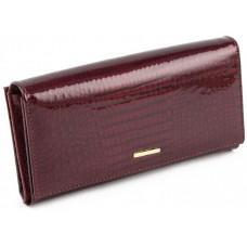 Бордовый женский кошелёк лаковый Marco Coverna 403-2480-4