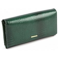 Зелёный кожаный кошелёк в лаковом покрытие Marco Coverna 403-2480-7