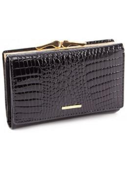 Чёрный лаковый кошелёк Marco Coverna 403-2490-1
