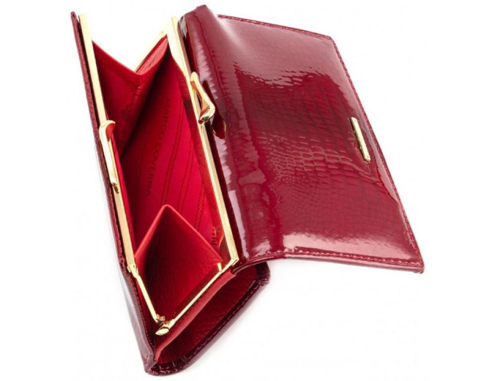 Красный лаковый кошелёк Marco Coverna 403-2490-2 - Фото № 4