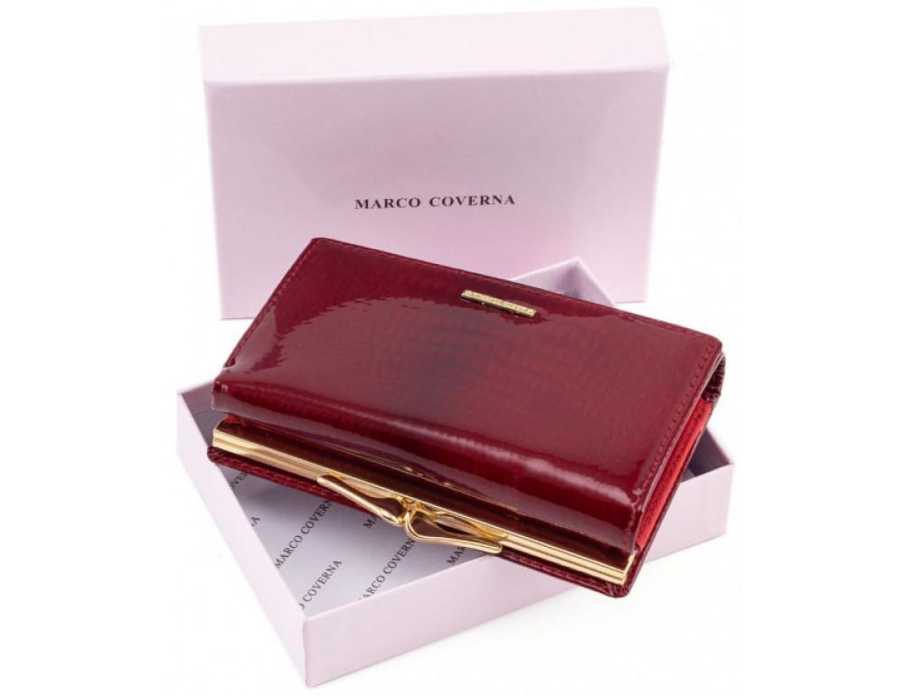 Красный лаковый кошелёк Marco Coverna 403-2490-2 - Фото № 6