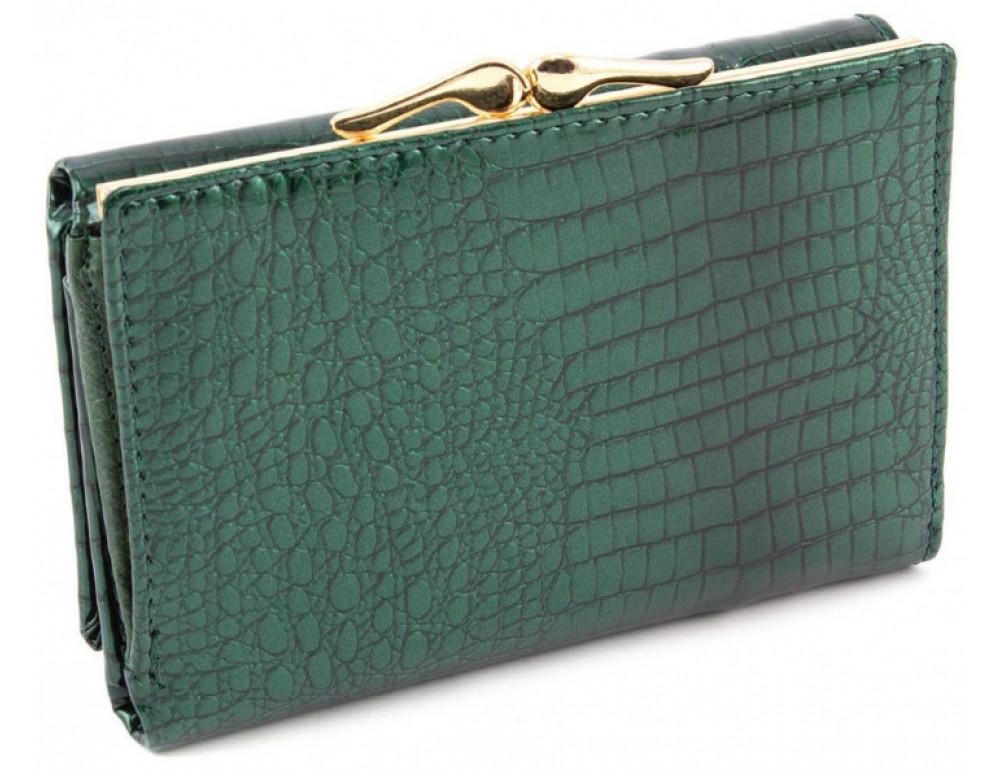 Зелёный лаковый кошелёк Marco Coverna 403-2490-7 - Фото № 3