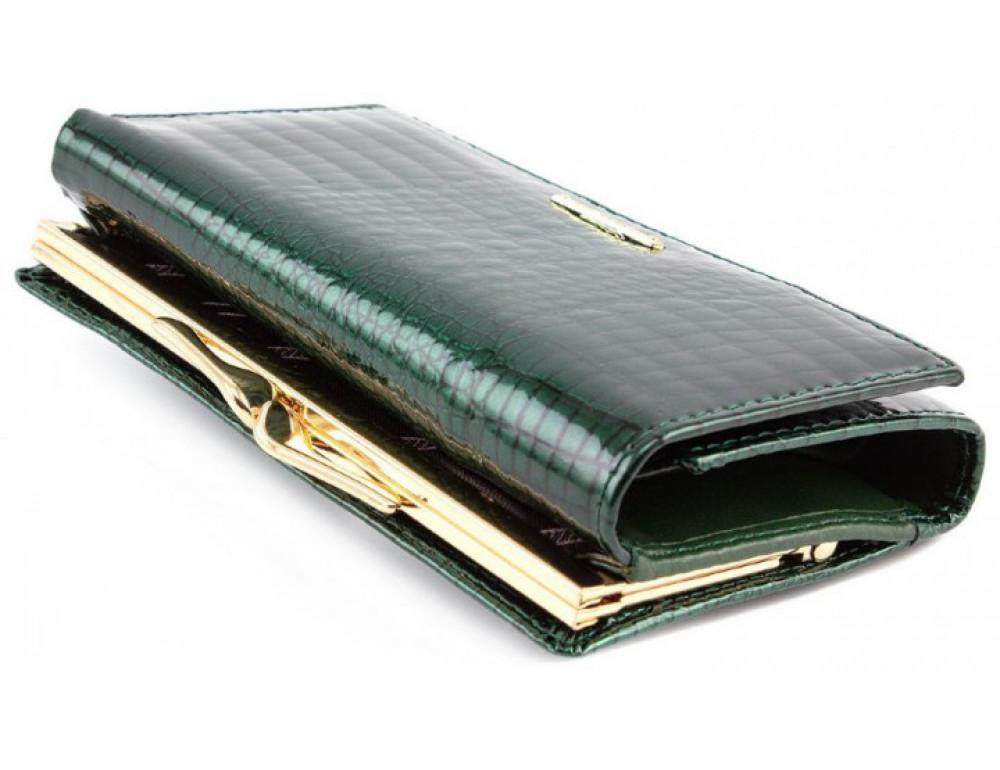 Зелёный лаковый кошелёк Marco Coverna 403-2490-7 - Фото № 4