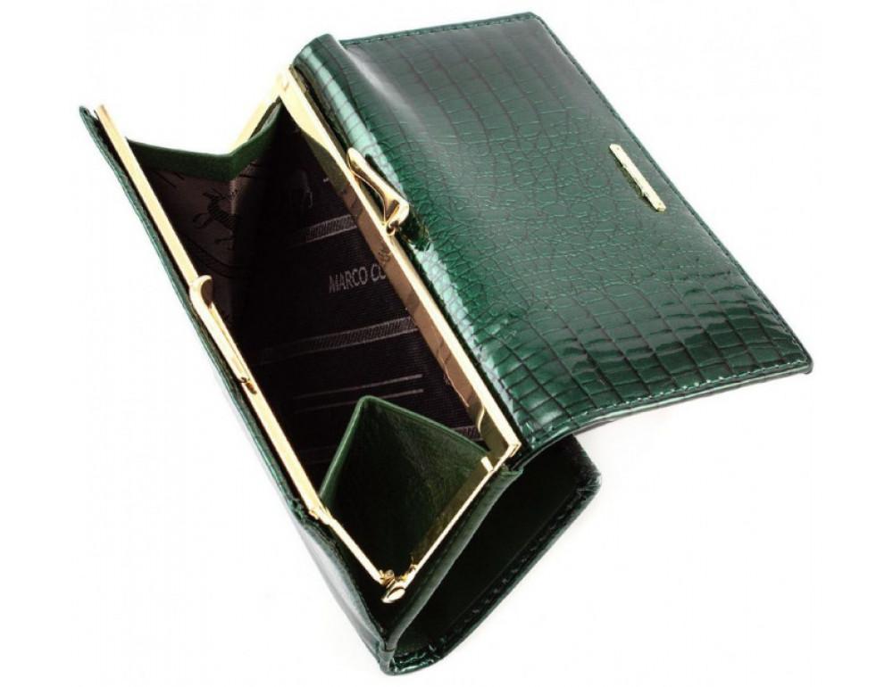 Зелёный лаковый кошелёк Marco Coverna 403-2490-7 - Фото № 5