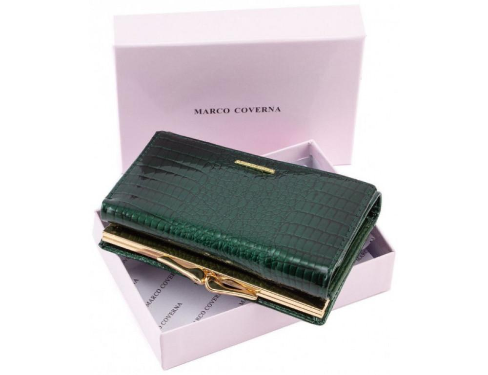 Зелёный лаковый кошелёк Marco Coverna 403-2490-7 - Фото № 6