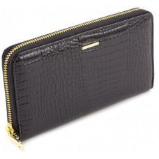Чёрный кожаный кошелёк на молнии Marco Coverna 403-2500-1