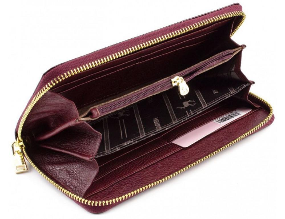 Бордовый лаковый кошелёк на молнии Marco Coverna 403-2500-4 - Фото № 2