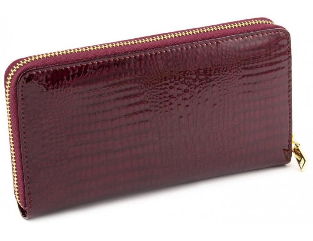 Бордовый лаковый кошелёк на молнии Marco Coverna 403-2500-4 - Фото № 3