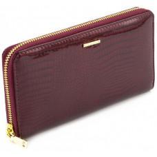 Бордовый лаковый кошелёк на молнии Marco Coverna 403-2500-4