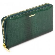 Зелений шкіряний лаковий гаманець Marco Coverna 403-2500-7