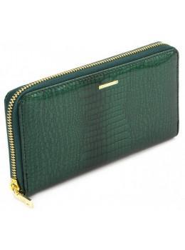 Зелёный кожаный лаковый кошелёк Marco Coverna 403-2500-7