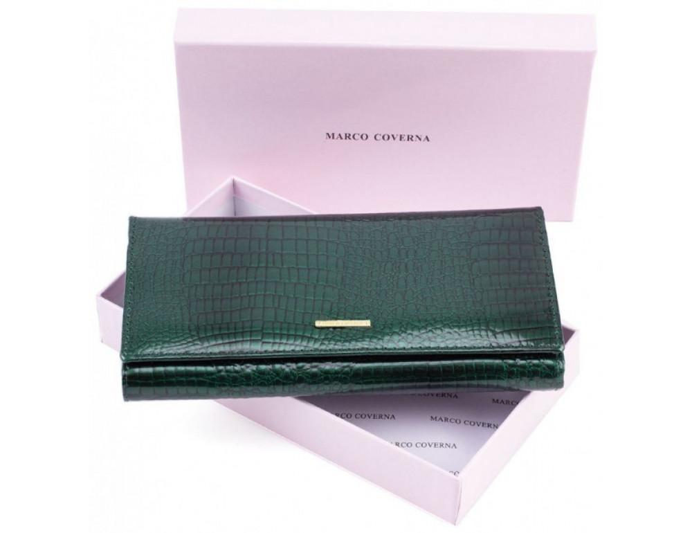 Зелёный женский кошелёк Marco Coverna 403-6061-7 - Фото № 7