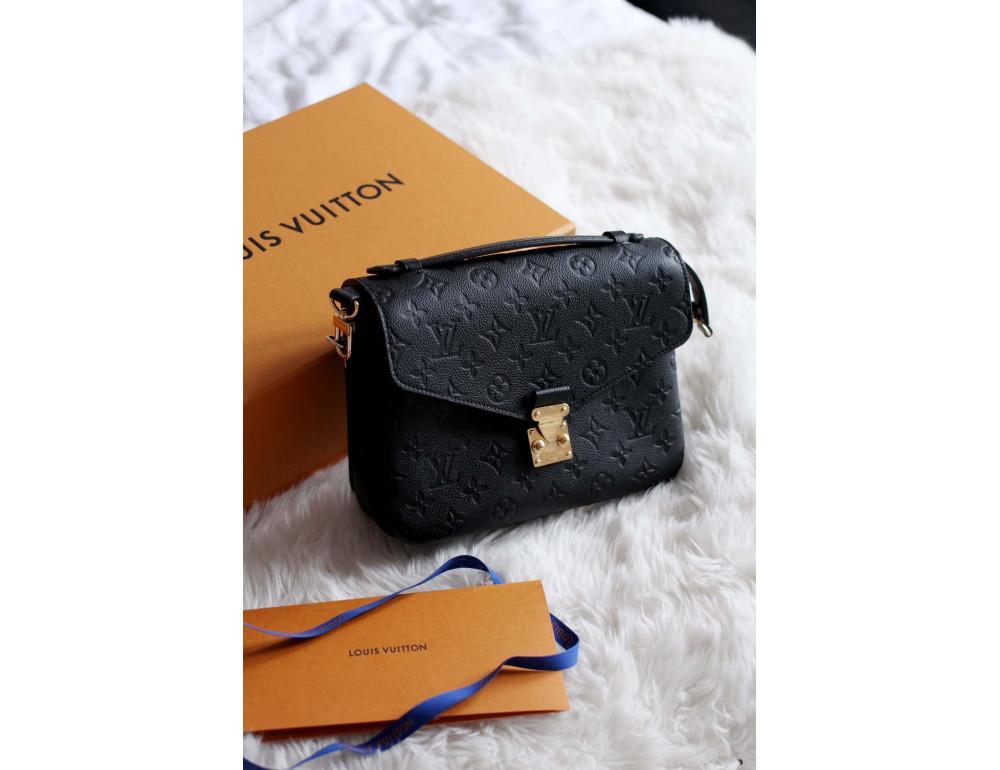 Чорна сумка Louis Vuitton POCHETTE METIS