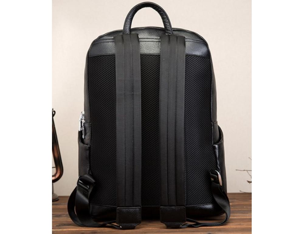 Кожаный рюкзак Tiding Bag 419A-19 Чёрный - Фото № 2