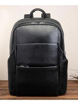 Кожаный рюкзак Tiding Bag 419A-19 Чёрный