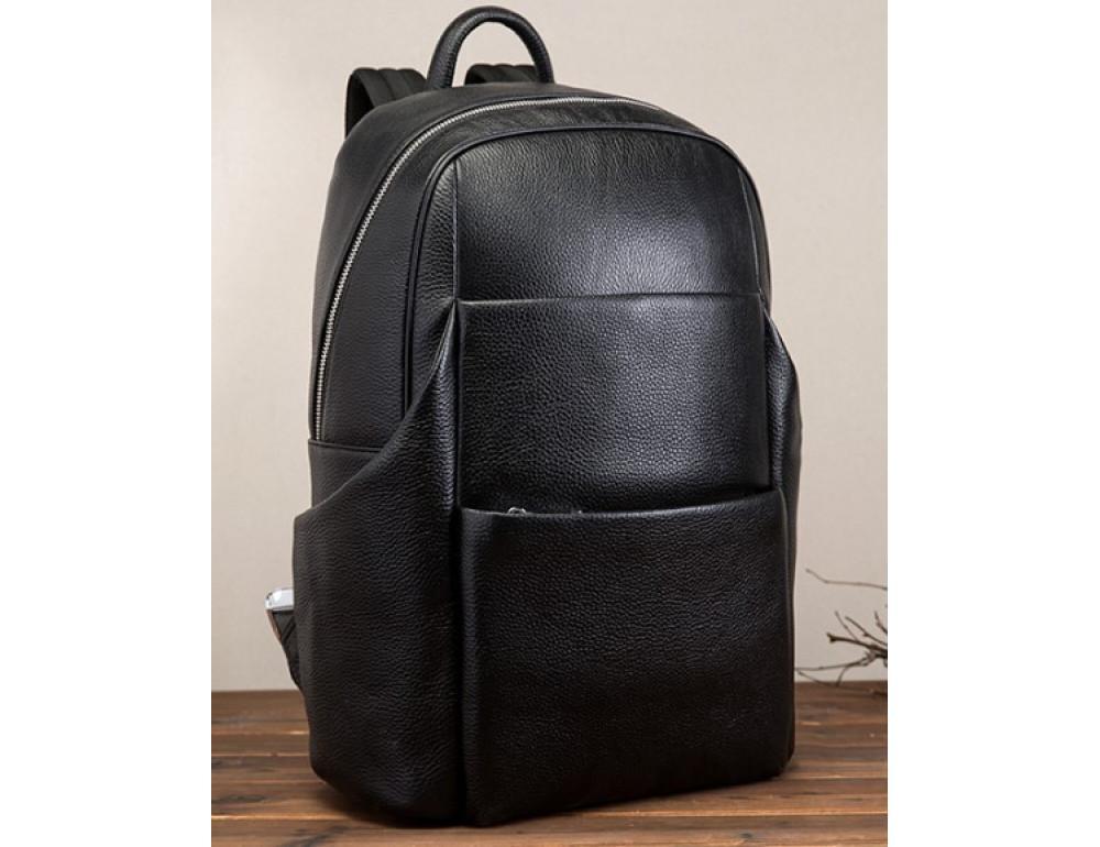 Кожаный рюкзак Tiding Bag 419A-19 Чёрный - Фото № 3