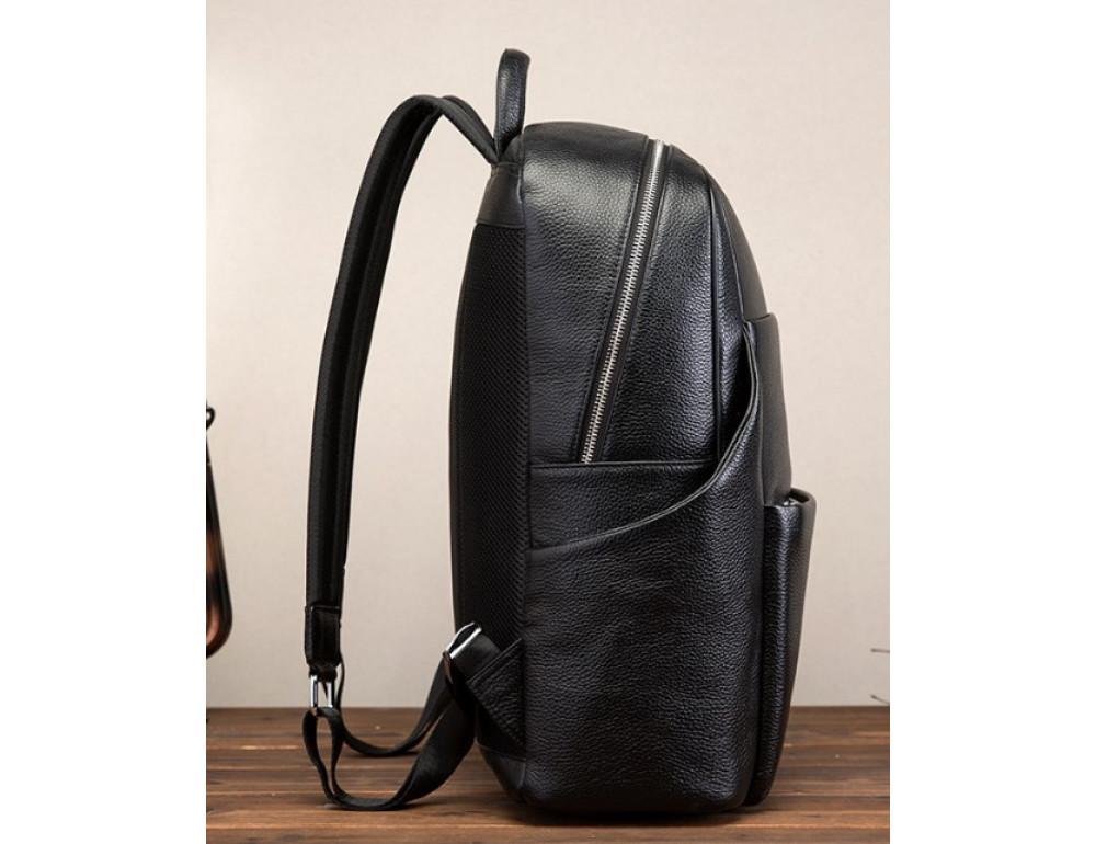 Кожаный рюкзак Tiding Bag 419A-19 Чёрный - Фото № 4