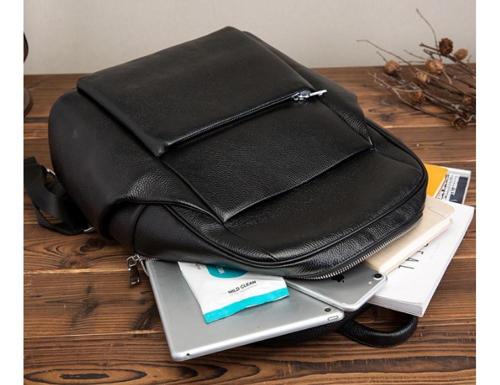 Кожаный рюкзак Tiding Bag 419A-19 Чёрный - Фото № 6