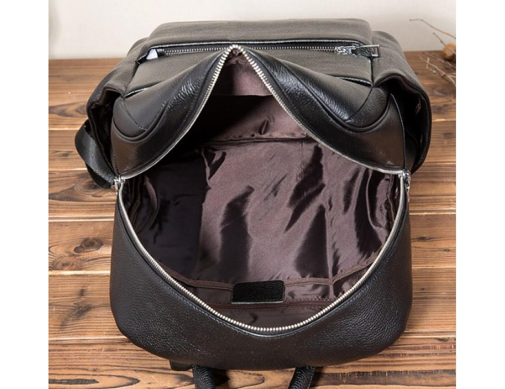 Кожаный рюкзак Tiding Bag 419A-19 Чёрный - Фото № 7